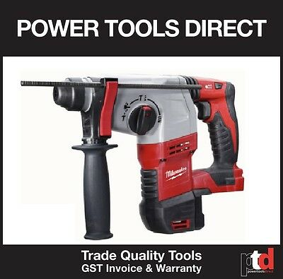 New Milwaukee 18V Rotary Hammer Drill Cordless Hd18H-0 Heavy Duty 3 Mode Skin