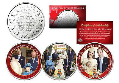BRITISH ROYAL FAMILY Set of 3 Royal Canadian Mint Medallion Coins PRINCE WILLIAM
