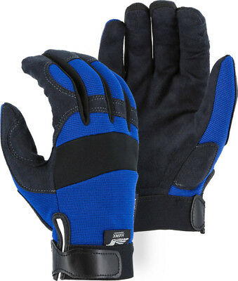 Majestic Glove Mechanics Style  Synthetic Leather 2137BL Large