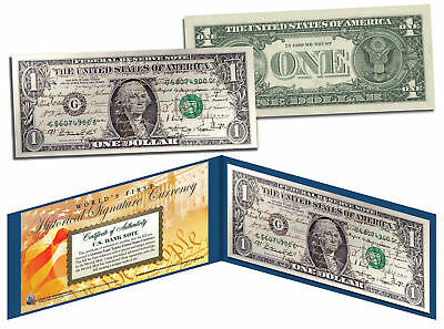 ALL 44 U.S. PRESIDENTS GOLD LEAF SIGNATURES - Legal Tender Official U.S. $1 Bill