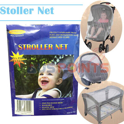 Baby Stroller Net Mosquito Insect Fly Bug Net Mesh Pram 105x40.5cm