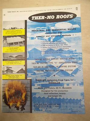 Thermo Products Inc Catalog~Ther-Mo Roofs/Coating Type A~Asbestos~1961