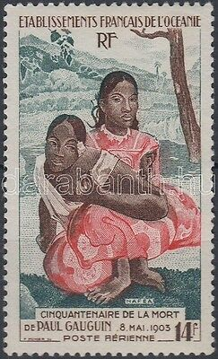 French Oceania stamp Paul Gauguin Hinged 1953 Mi 238 WS161033