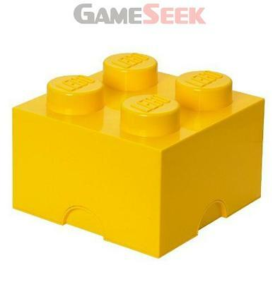 Lego Storage Brick 4 Yellow - Action Figures Brand New Free Delivery
