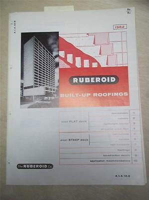 Ruberoid Co Catalog~Built-Up Roofing~Asbestos~1962