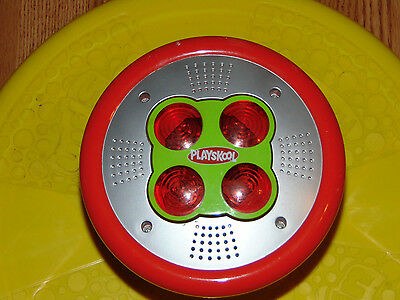 PLAYSKOOL Sit N Spin Toy Vintage Tonka Yellow Silver LIGHT & MUSIC Sit and Spin