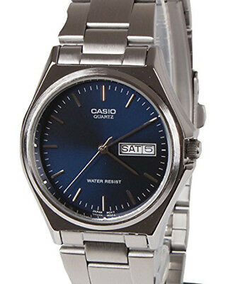 Casio Men's Casio Analog 50m Stainless Steel Blue Dial Watch MTP1240D-2A
