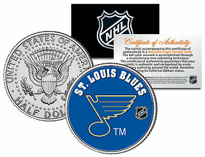 ST. LOUIS BLUES NHL Hockey JFK Kennedy Half Dollar U.S. Coin * LICENSED *