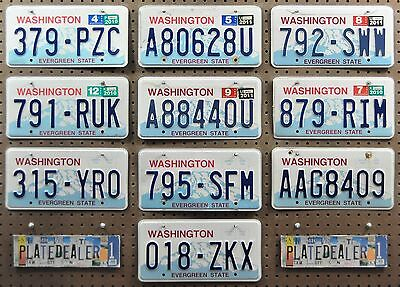 10 WASHINGTON Rainier License Plates Tags Art Crafts Signs GENERIC BULK LOT