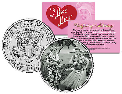 I LOVE LUCY Hawaiian Vacation * LUCILLE BALL * JFK Kennedy Half Dollar US Coin