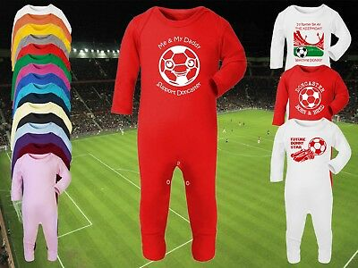 ACCRINGTON STANLEY Football Baby ROMPER Sleep Suit Personalised Gift Any team