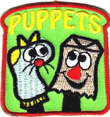 PUPPETS Iron On Patch Theater