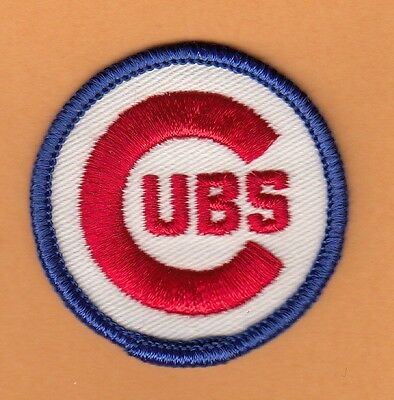 LOT of 5 PATCHES OLD 1970's CHICAGO CUBS 2 inch LOGO PATCH UNSOLD STOCK