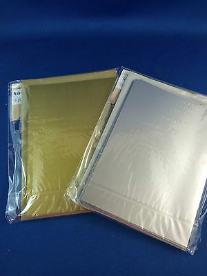 Gold & Silver Blank cards with envelopes A5 size for card making pack of 6 sets