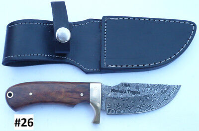 "SALE**#26 - CUSTOM HAND MADE ""DAMASCUS""- HUNTING, FIGHTING & ALL PORPOSE KNIFE!"