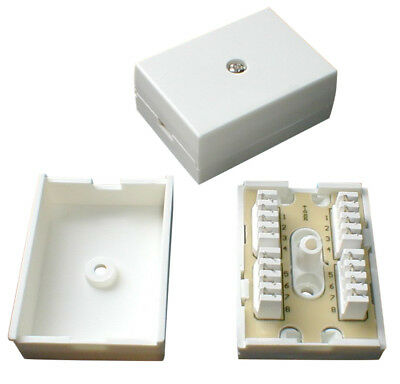 Pack of 10x 78A 4 Pair IDC Telephone Junction / Connection Box