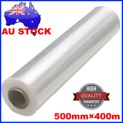 2 Rolls 500mm x 400m 30um Clear Stretch Film Pallet Wrap Wrapping BEST PRICE