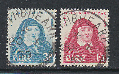 Ireland 1958 Mother Mary Pair Sg 174-175 Fine Used.