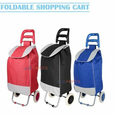 Shopping Trolley Bag Cart Carts Foldable Market Luggage Wheels Collapsible Aus
