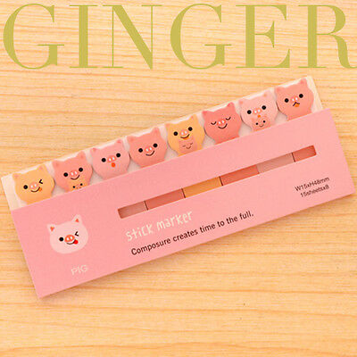 120 Pages Funny Pig Sticker Post It Bookmark Point Marker Memo Flag Sticky Notes