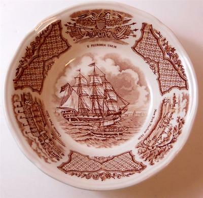 Set of 2 Alfred Meakin Sailboat Clipper Canton Port  New York Harbor Berry Bowls