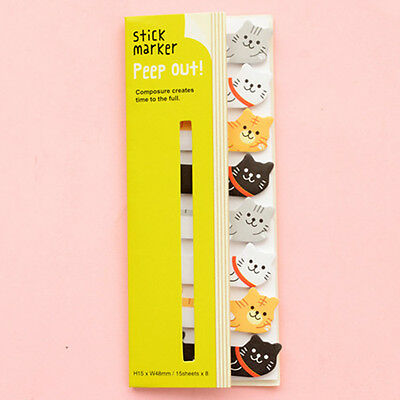 Kitty Cat 120 Pages Funny Stick Post It Bookmark Point Mark Flag Sticky Notes