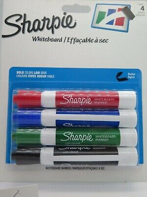 4/Pack Sharpie Whiteboard Markers Assorted Bullet Point 1805861^