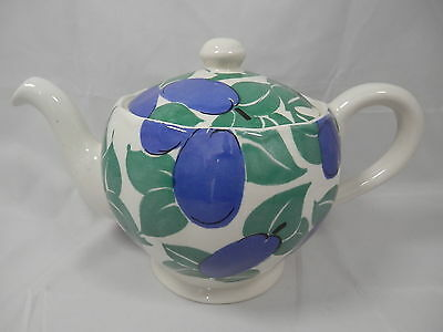 Tea Pot & Lid Garden Fruits Plum Grindley England Washer/Micro Safe 0026