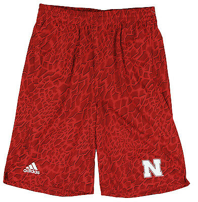 Adidas NCAA College Youth Nebraska Cornhuskers Crazy Light Shorts - Red