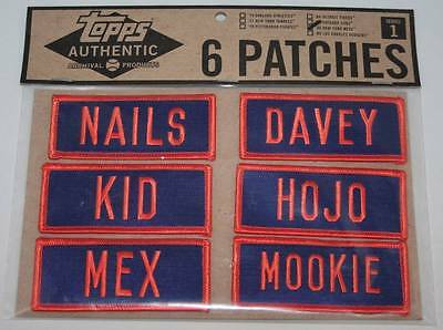 1986 New York Mets - Embroidered Name Tag Patches - Set of 6, Iron or Sew On