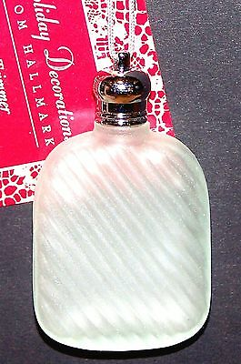 1992 NEW Hallmark Christmas Tree-Trimmer GREEN PERFUME BOTTLE Ornament with tag