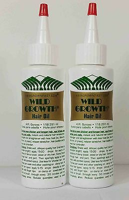 Wild Growth Concentrated Hair Oil 2 Lot (4Oz)