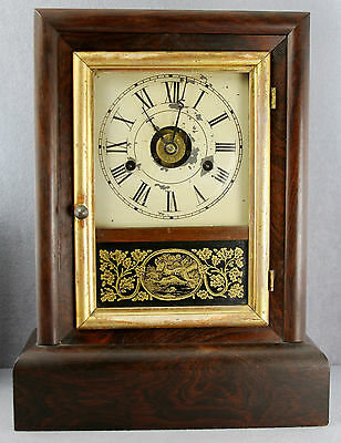 ANTIQUE SETH THOMAS  MANTLE CLOCK AS IS FOR PARTS OR TO RESTORE NOT WORKING 15""
