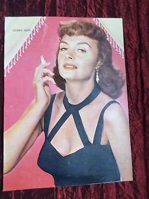 """Donna Reed - Film Star - """"1 Page Picture """" - Clipping/cutting -#2"""
