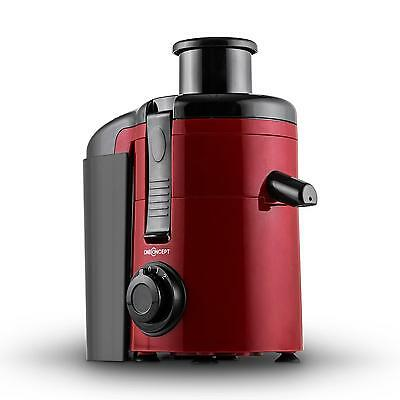 250W Pro Electric Slow Juicer 11,000 Rpm Vegetable Fruit Large Feed Tube - Red
