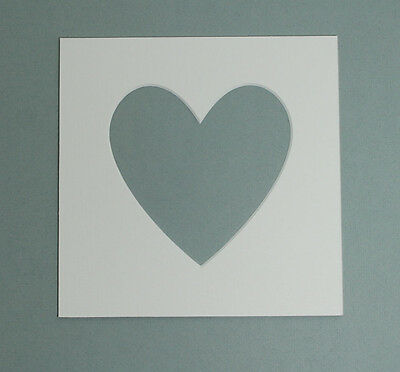 "9x9"" Inch Heart Shaped  Mounts to fit 6x6"" inch  Photo & Picture  Pack Of 5"