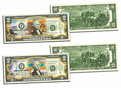 GRAND CANYON & YELLOWSTONE Official $2 Bills Honoring America's National Parks