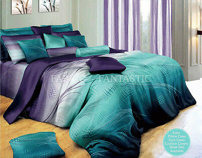 Zephyr 100% Cotton Queen/King/Super King Size Bed Quilt/Doona Cover/Sheet Set