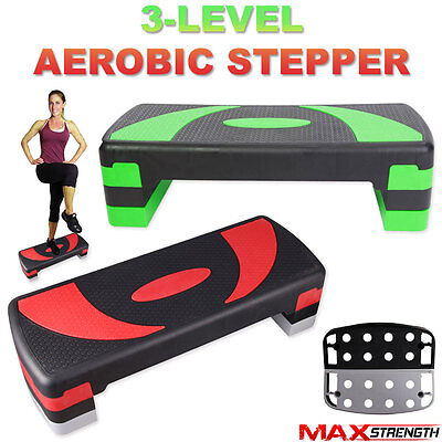 Adjustable Exercise Aerobic Step Fitness Yoga Gym Workout 3 Level Stepper Board