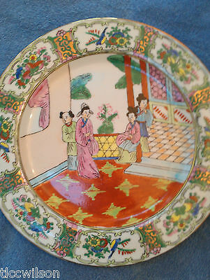 Oriental Asian Japanese soup bowl and plate EXC authentic Asian Crown Porcelain