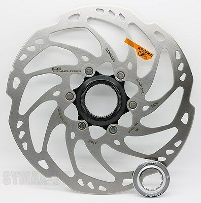 Shimano SLX / ZEE SM-RT68 ICE-Tech 203mm Disc Brake Rotor, Centre-Lock Mounting