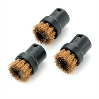 Karcher Round brush set. Made of brass bristles for steam cleaners.  28630610.