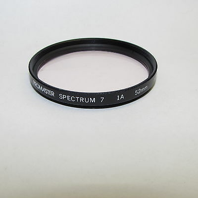 Used Promaster Spectrum 7 1A skylight 52mm Lens Filter Made in Japan S311241