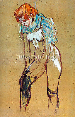 Stockings By Toulouse Lautrec Artist Painting Reproduction Handmade Oil Canvas