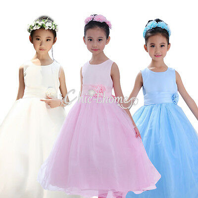 New Girl Flower Formal Long Dress Bridesmaid/Prom/Wedding/Party/Princess/Pageant