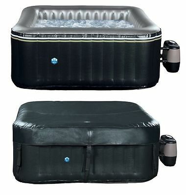 Mspa 4 + 2 Inflatable Square Luxury Alpine Ls Hot Tub Spa Jacuzzi & Chemical Kit