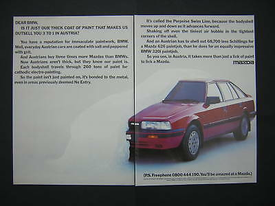 Mazda Advert from 1987 featuring the 626 - Original Advertisement