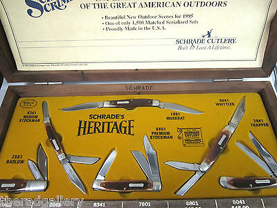 Schrade Cutlery Knife Set from the 1995 Great American Outdoor Heritage Series
