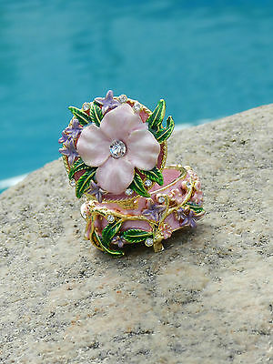 FLOWERS Jewelry Box with Stal Made of Base metal and Multi-color Enamel