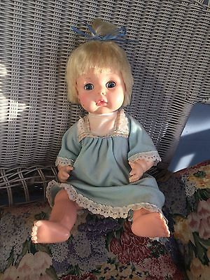 vintage eegee company tlc doll with vintage nightgown